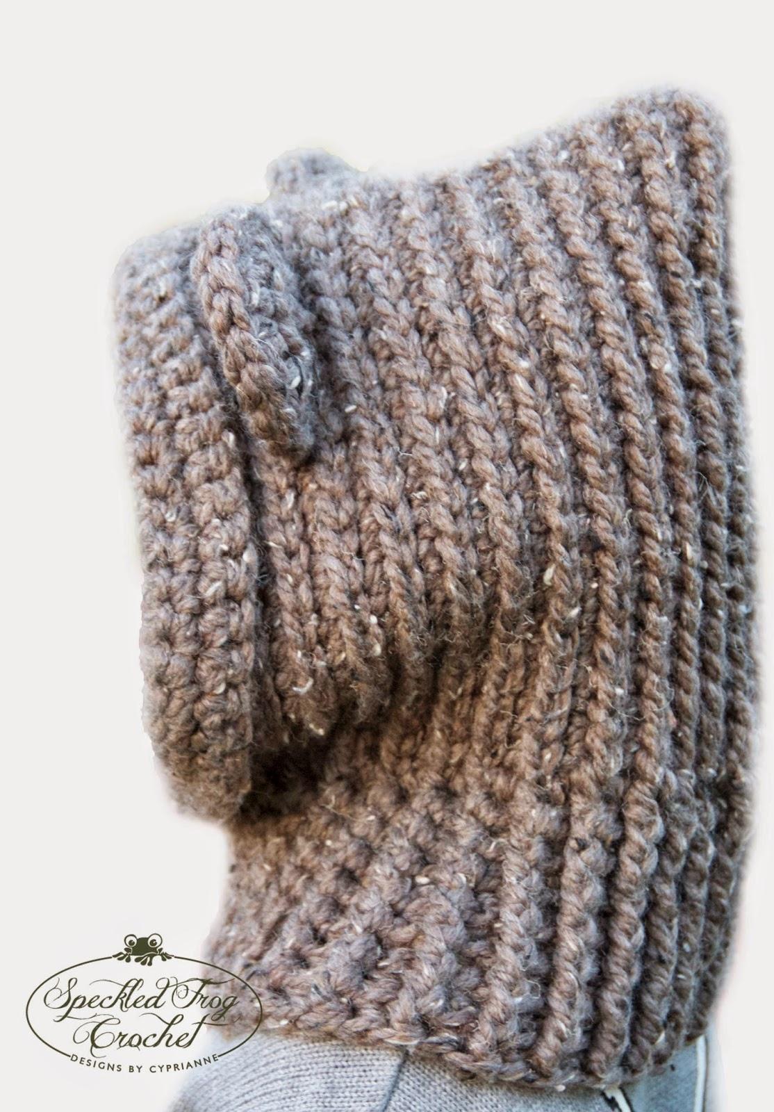 Hooded Cowl Knitting Pattern Free : Pretty darn adorable crochet hooded bear cowl pattern