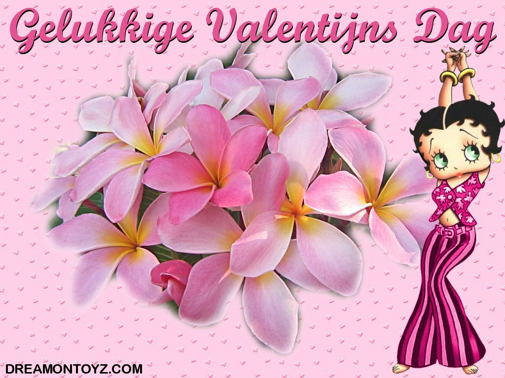 Betty boop pictures archive bbpa betty boop valentine wallpaper happy valentines day in dutch gelukkige valentijns dag hippy betty boop in a 2 piece pink outfit on a pink background covered in hearts with a bunch of kristyandbryce Gallery