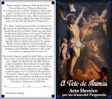 ACTO HEROICO DE CARIDAD EN FAVOR DE LAS BENDITAS ÁNIMAS DEL PURGATORIO