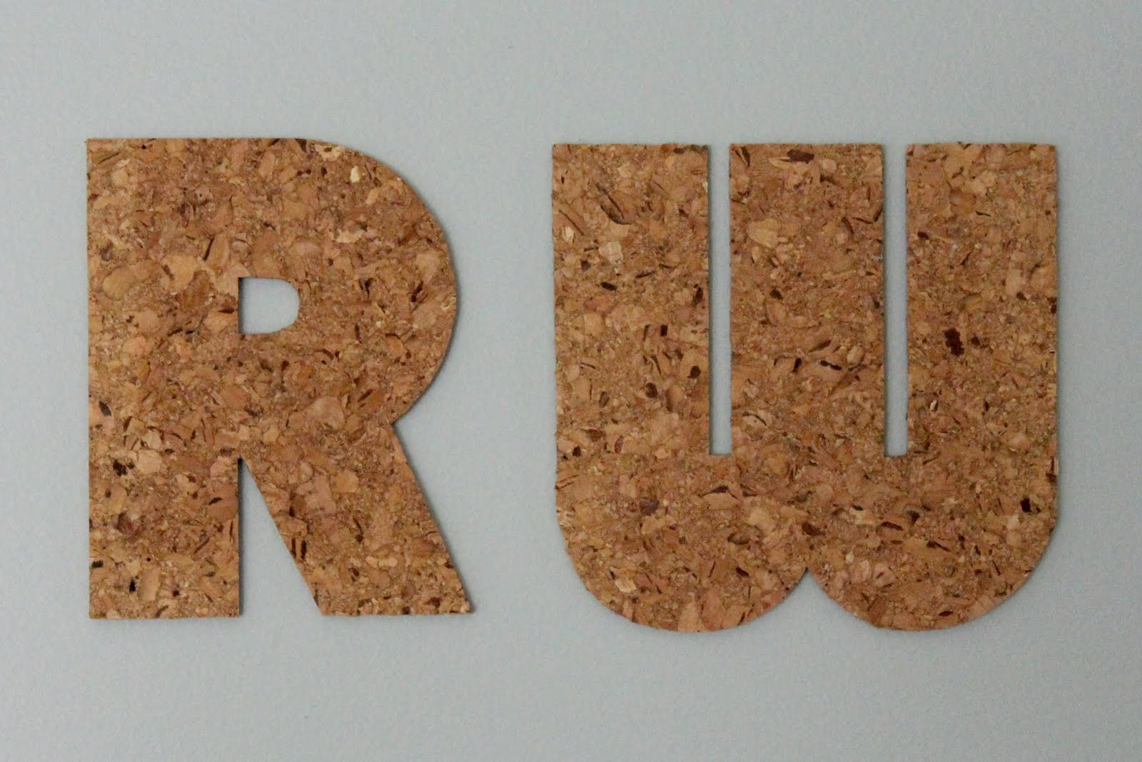 Modern mantle easy cork board initials for Simple cork