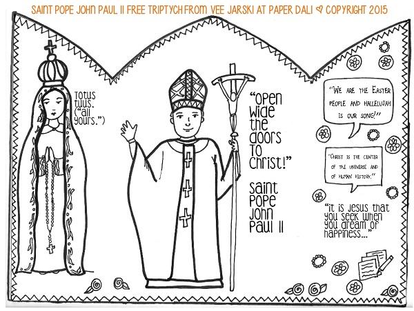Paper Dali Free Saint Pope John Paul Ii Printable Triptych
