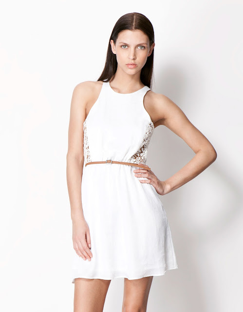yanları dantel detaylı kısa beyaz elbise, gece elbisesi, günlük elbise