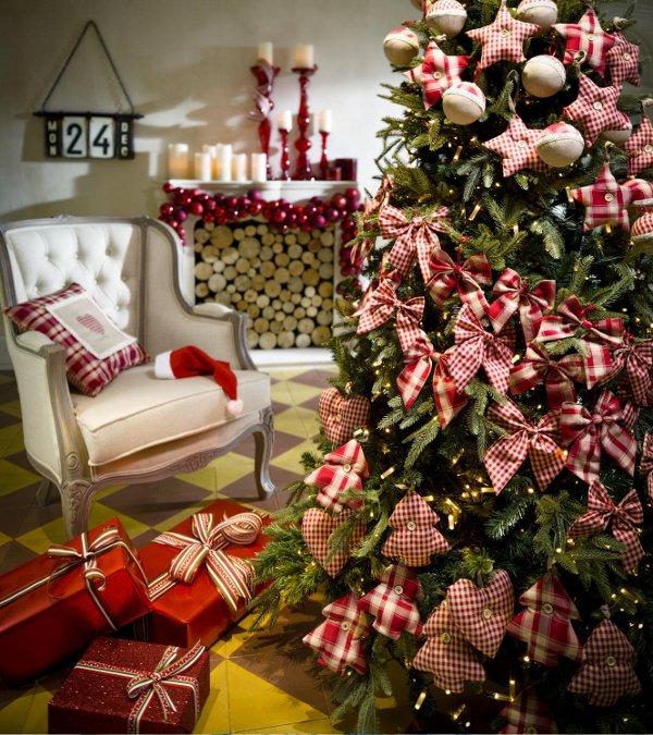 Belleza en linea ideas para decorar un rbol en navidad - Arboles navidad decorados ...