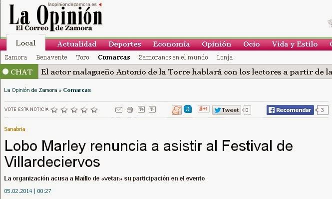 http://www.laopiniondezamora.es/comarcas/2014/02/05/lobo-marley-renuncia-asistir-festival/738352.html