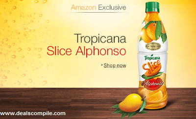 Tropicana Slice Alphonso 600ml Rs.50 – Amazon Excluisve