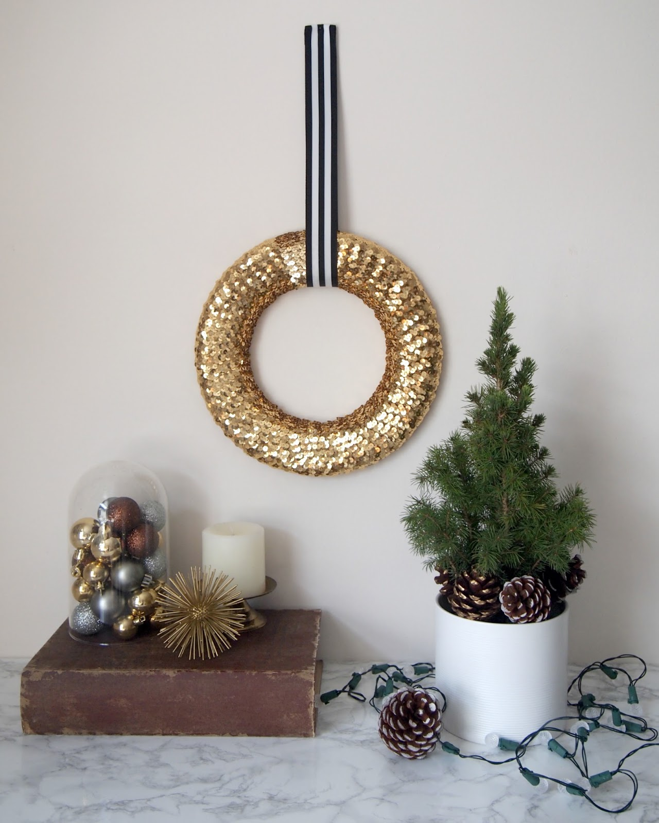 DIY Sequin Wreath Project
