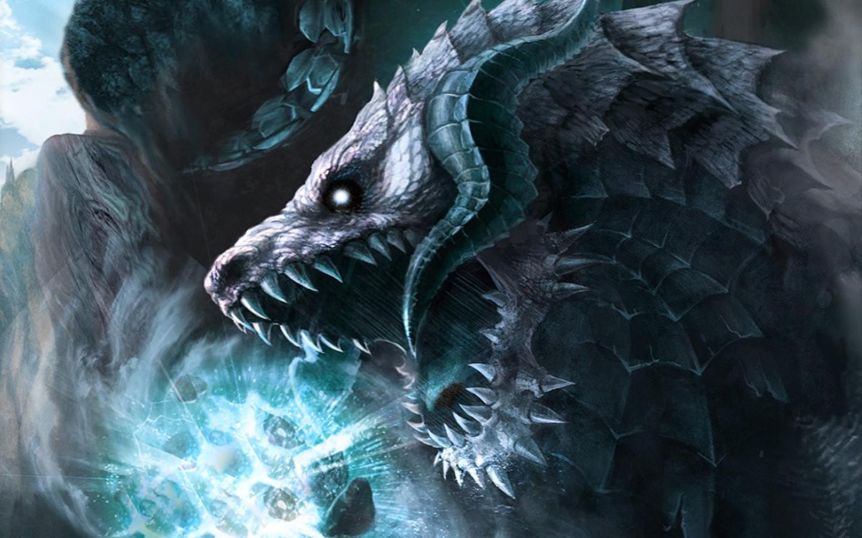 激しい攻撃をする龍