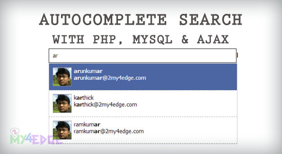autocomplete search with php mysql and ajax