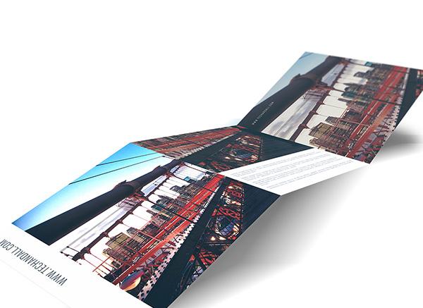 Download Gratis Mockup Majalah, Brosur, Buku, Cover - 8×8 Tri Fold Mock up