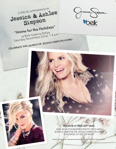 Jessica Simpson Ashlee Simpson Belk Galleria Dallas