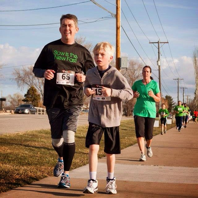 Running a 5K with my son