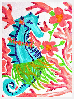 Seahorse Hula Dance by Jill Bull