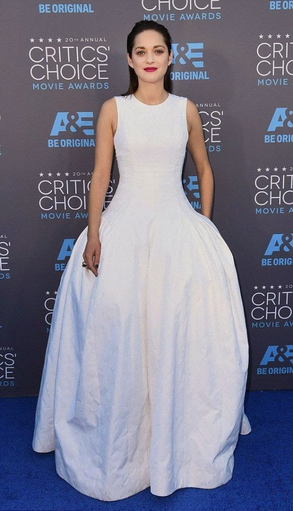 That's pretty incredible, if you ask me and Marion Cotillard looked perfectly with her outfit on the 20th Annual Critics Choice Movie Awards at Hollywood on Thursday, January 15, 2015.