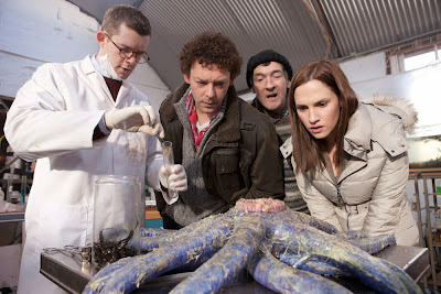 Russell Covey, Richard Coyle, and Ruth Bradley in Grabbers