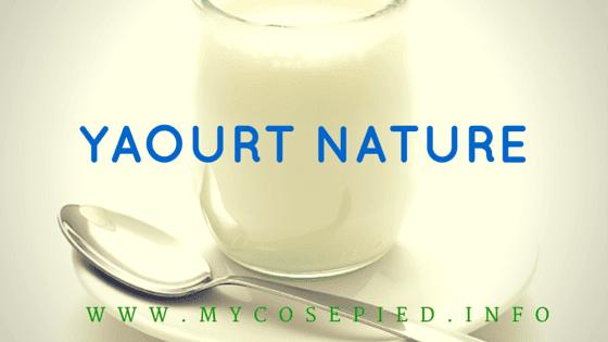 yaourt nature traitement mycose pied