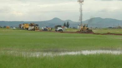 Alerta en Tocuila de nuevo intento de ingresar maquinaria para la construcción del aeropuerto