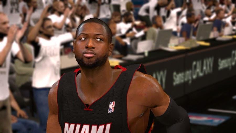 NBA 2K14 Dwyane Wade Face Mod