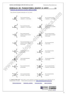 Símbolos de transistores mosfet e igfet 1/2