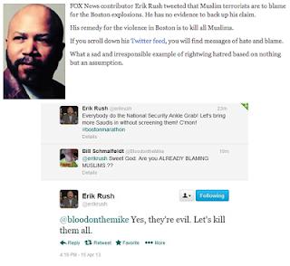 Pasca Bom Boston: Seruan Membunuh Semua Muslim di AS di Twitter Dikecam !