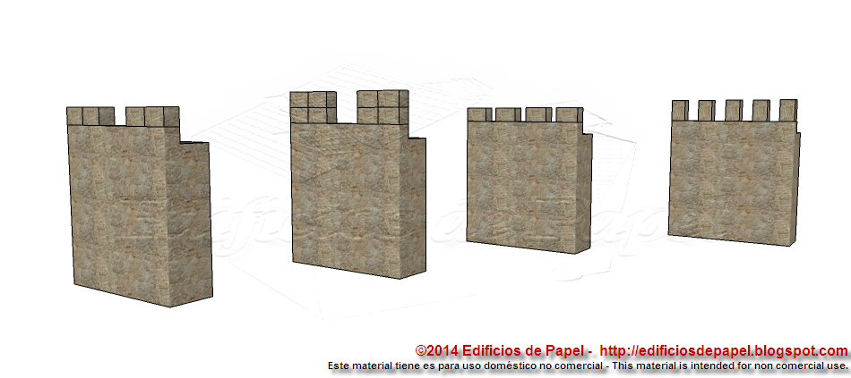 Different ways to place the battlement blocks