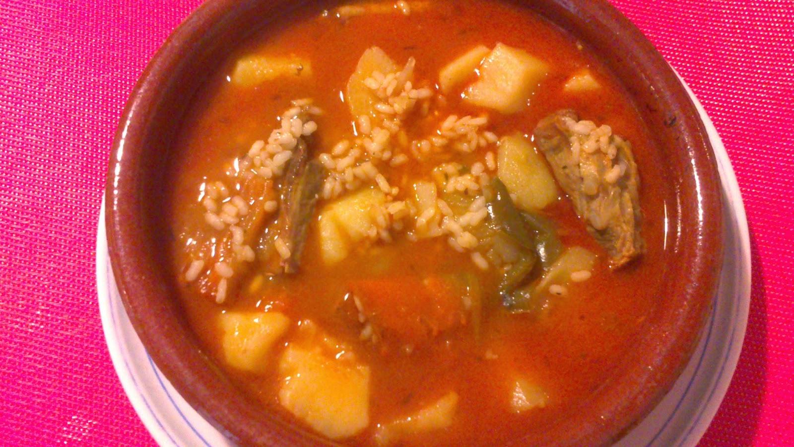 Las recetas de carmen ramos cocina mariposa arroz - Arroz caldoso con costillas y alcachofas ...