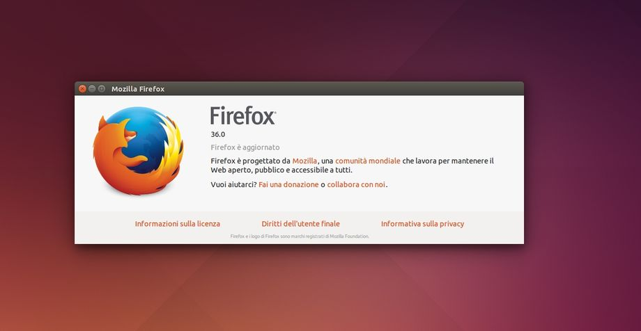 Firefox 36 in Ubuntu