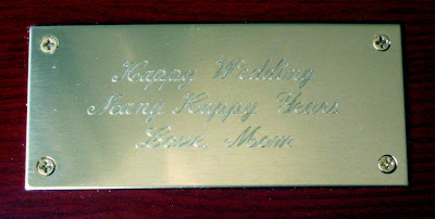 Flatware Storage Case Inscription - Photo by Taste As You Go