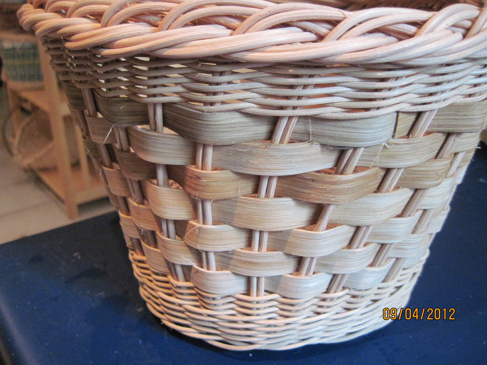 How To Weave A Cane Basket : John toft basketry upgrading open weave baskets