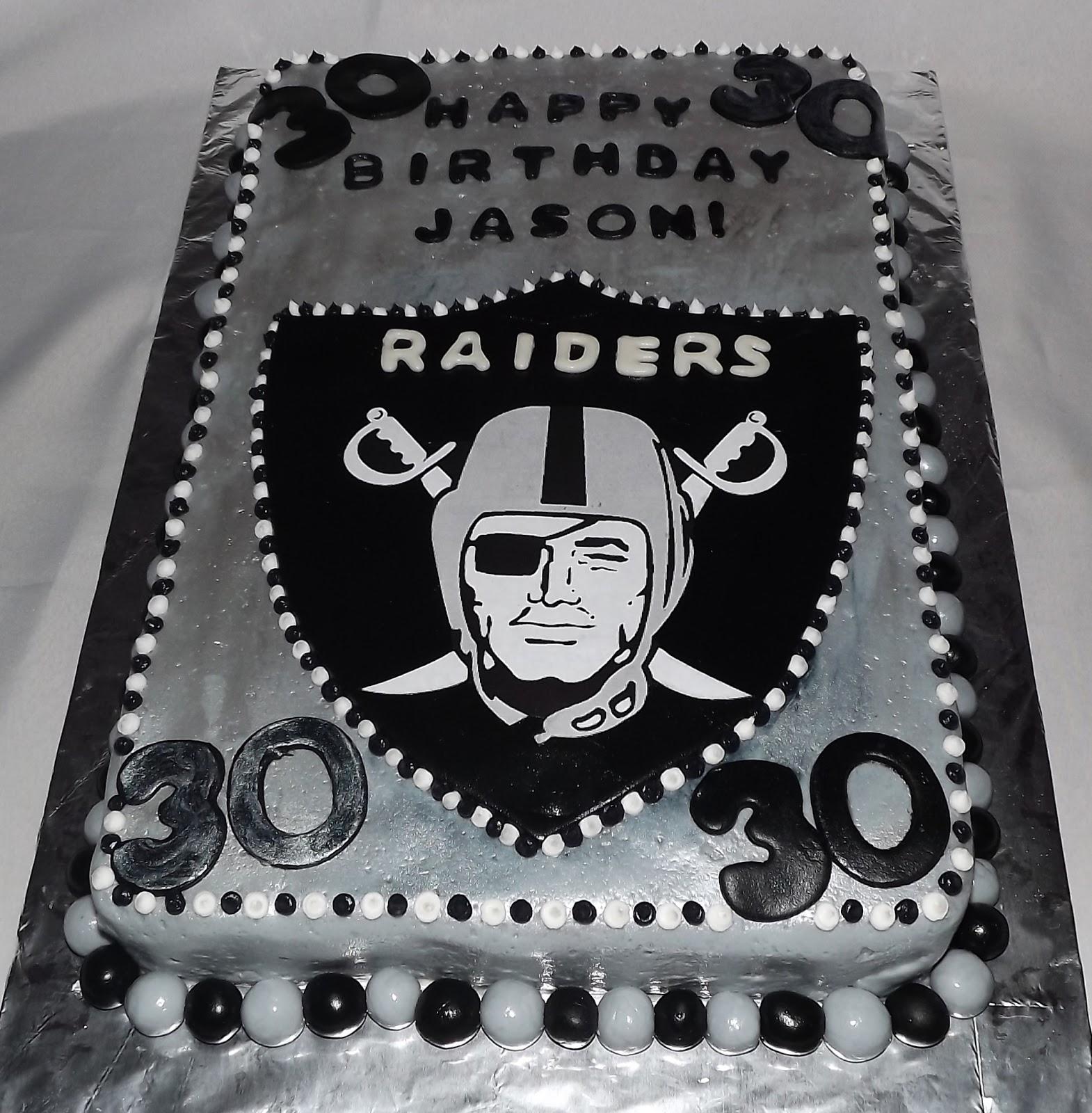 Raiders Birthday Cake Photos