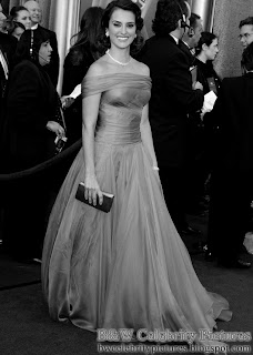 Penelope Cruz over red carpet at 2012 Academy Awards - Oscar arrival