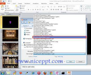 Change ppt into video