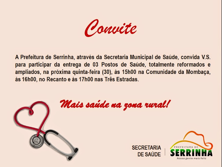 PREFEITURA MUNICIPAL DE SERRINHA CONVIDA