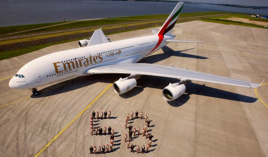 emirate airbus a380 top view