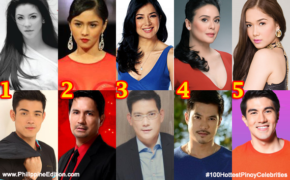 The 100 Hottest Pinoy Celebrities nominees were voted by thousands of