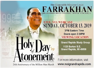 VIDEO REPLAY: The 24th Anniversary of the Million Man March and The 2019 Holy Day of Atonement