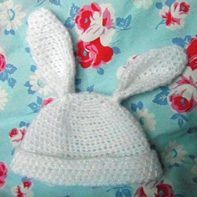Crochet Baby Easter Hat Patterns : Crocheted Baby Easter Bunny/Ears Hat - Free Pattern! ~ Let ...