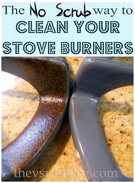 The NO Scrub Way to Clean Your Stove Burners