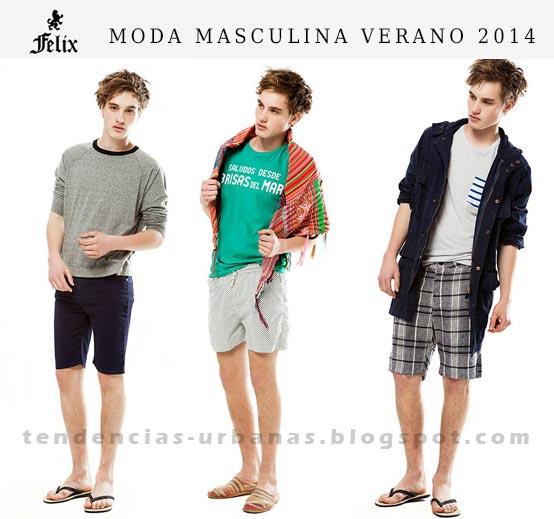 bermudas de moda para hombre verano 2014 Felix