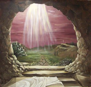 Drawing art picture of Empty tomb of Jesus for kids