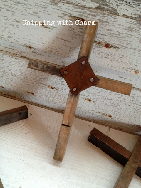 Chipping with Charm: Mystery Junk to Rustic Cross www.chippingwithcharm.blogspot.com