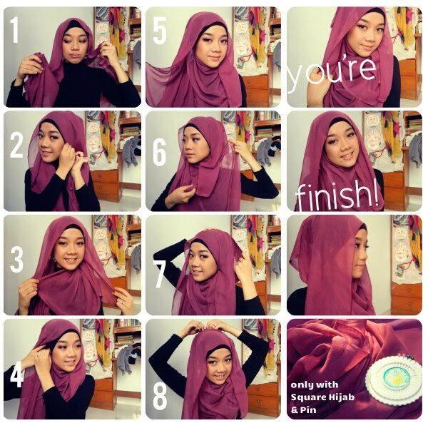Model Jilbab Modern Segi Empat Jilbab Model Segi Empat Sangat