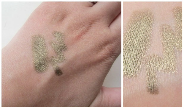Smashbox Waterproof Shadow Liner in Black Gold Swatches