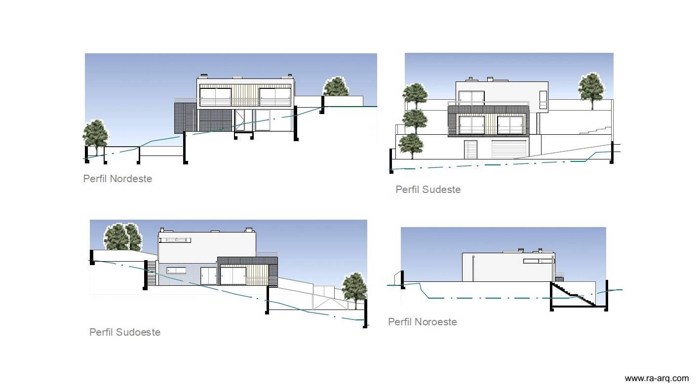 planos de casas modernas en desnivel