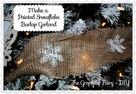How to Make a Painted Snowflake Burlap Garland