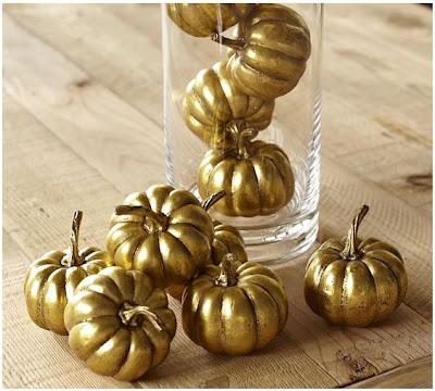 Pottery Barn Gold Pumpkins |  #fall #thanksgiving #gold #pumpkins