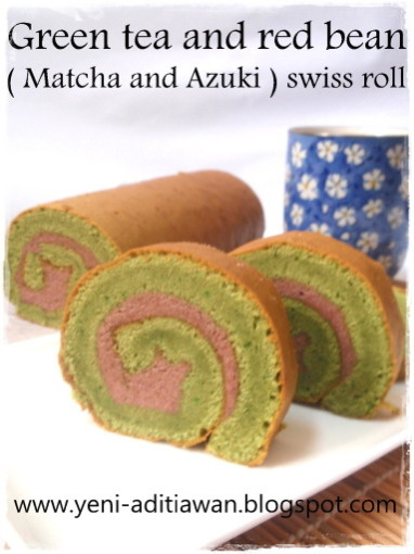 Resep Green tea swiss roll