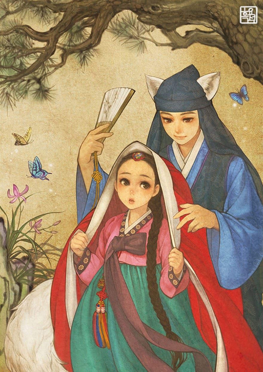 Famous Western Fairytales Get An Eastern Makeover By Korean Artist - Red Riding Hood