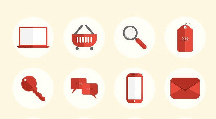 Free E-Commerce Pixel Perfect Flat Icons