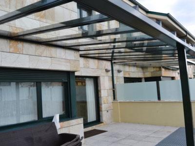 Techo de terrazas latest techo con lamas de aluminio for Techumbres modernas