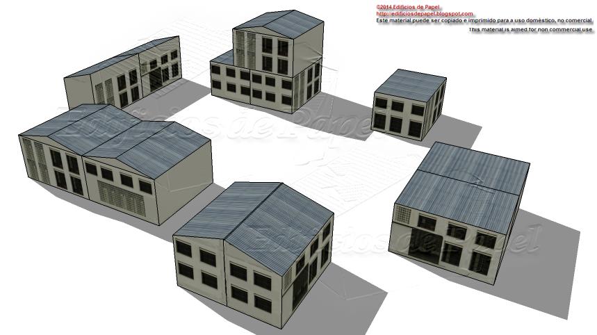 Innumerables combinaciones de edificios de papel son posibles